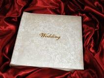 Álbum de fotografia do casamento Imagem de Stock Royalty Free