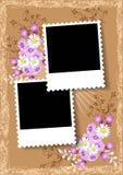 Álbum de fotografias da disposição de página ilustração stock