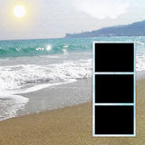 Álbum de fotografias do molde imagens de stock