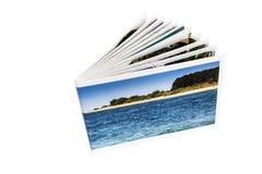Álbum de fotografias em um fundo branco Fotos de Stock