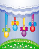 Álbum de recortes colorido com ovos. Foto de Stock
