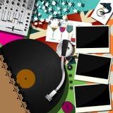O DJ party o projeto Fotografia de Stock
