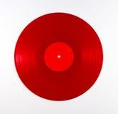 Álbum de registro vermelho do vinil Fotos de Stock Royalty Free