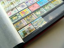 Álbum de selo imagens de stock