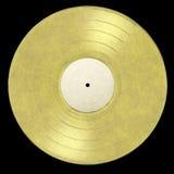 Álbum del oro de LP fotografía de archivo libre de regalías