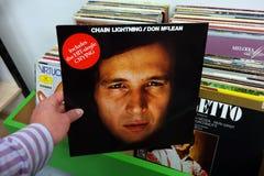 Álbum del relámpago de cadena de Don McLean imágenes de archivo libres de regalías