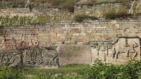 Álbum do vinhedo e da pedra em Grossjena em Alemanha fotos de stock royalty free