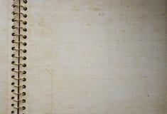 Álbum espiral viejo del lazo Foto de archivo