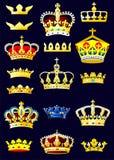 Álbum heráldico. Coronas. (Página 2) (vector) Fotografía de archivo