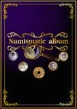 Álbum numismático de la cubierta. 01 (vector) Foto de archivo libre de regalías
