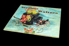 Álbum viejo de los vals de Strauss del vintage fotografía de archivo libre de regalías