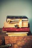 Álbumes del vintage con las memorias, imagen entonada Fotografía de archivo libre de regalías