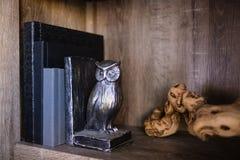 Álbuns em uma estante na moda fotos de stock