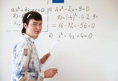 Álgebra de ensino imagem de stock royalty free