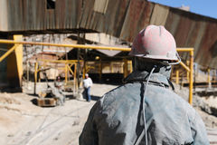 Ámérica do Sul - Bolívia, Potosi, trabalho dos mineiros fotografia de stock royalty free