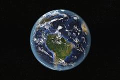 Ámérica do Sul e as Caraíbas do espaço foto de stock