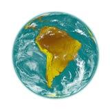 Ámérica do Sul na terra Fotografia de Stock