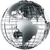 Ámérica do Sul no metal Imagens de Stock