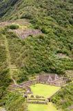 Ámérica do Sul - Peru, ruínas do Inca de Choquequirao fotografia de stock royalty free