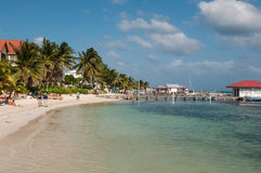 Ámbar gris Caye imagen de archivo