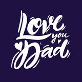 Ámele las letras manuscritas del vector de la frase del papá Tipografía de motivación para el padre feliz Day Card