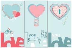 Ámele mensaje de las tarjetas del día de San Valentín Imágenes de archivo libres de regalías