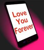 Ámele para siempre en la dedicación sin fin de los medios móviles para la eternidad Foto de archivo libre de regalías