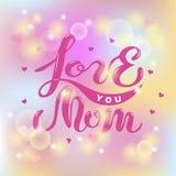 Ámele texto de la mamá aislado en fondo borroso Imágenes de archivo libres de regalías