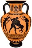 Ánfora Hercules Fighting The Nemean Lion ilustración del vector