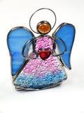 Ángel aislado del vidrio manchado Imagen de archivo libre de regalías