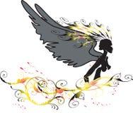 Ángel amarillo Ilustración del Vector