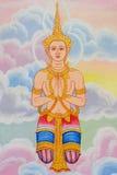 Ángel antiguo mural de Tailandia imagen de archivo