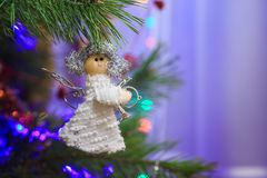 Ángel blanco de la muñeca Imágenes de archivo libres de regalías
