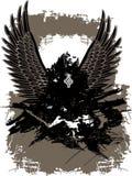 Ángel caido oscuro místico Imágenes de archivo libres de regalías