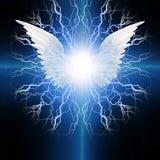 Ángel con alas stock de ilustración
