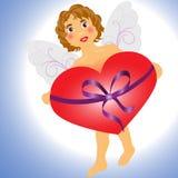 Ángel con el corazón Imágenes de archivo libres de regalías