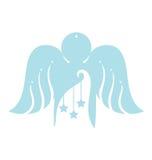 Ángel con el ornamento de la Navidad Imagen de archivo libre de regalías