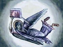 Ángel con la biblia Pintura al óleo libre illustration