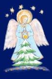 Ángel con la vela ligera. Fotos de archivo