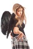 Ángel con las alas negras Imagen de archivo libre de regalías