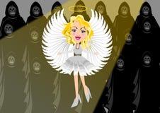 Ángel contra oscuridad ilustración del vector