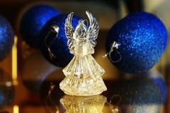 Ángel cristalino Decoración del Año Nuevo Ornamentos de la Navidad, christm Fotos de archivo
