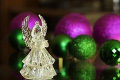 Ángel cristalino Decoración del Año Nuevo Ornamentos de la Navidad, christm Fotografía de archivo