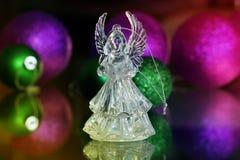 Ángel cristalino Decoración del Año Nuevo Ornamentos de la Navidad, christm Imágenes de archivo libres de regalías