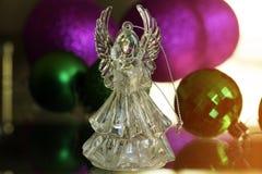 Ángel cristalino Decoración del Año Nuevo Ornamentos de la Navidad, christm Imagenes de archivo