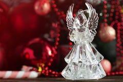 Ángel cristalino Decoración del Año Nuevo Ornamentos de la Navidad, christm Imagen de archivo libre de regalías