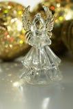 Ángel cristalino Decoración del Año Nuevo Ornamentos de la Navidad, christm Imagen de archivo