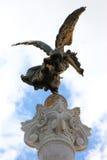 Ángel de bronce de la victoria en Roma, Italia Fotos de archivo