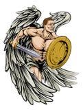 Ángel de la espada y del escudo Fotos de archivo libres de regalías