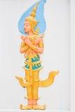 Ángel de la estatua que la puerta del izquierdo Foto de archivo